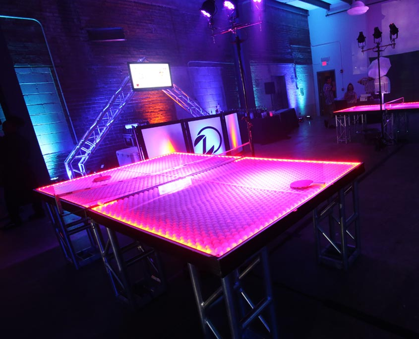 led ping pong table zone entertainment